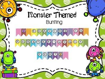 Monster Themed Bunting