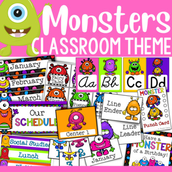 Monster Theme: Classroom Decor and Organizational Pack