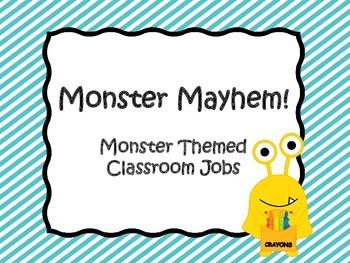 Monster Themed Classroom Jobs