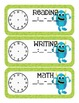Monster Themed Classroom Schedule