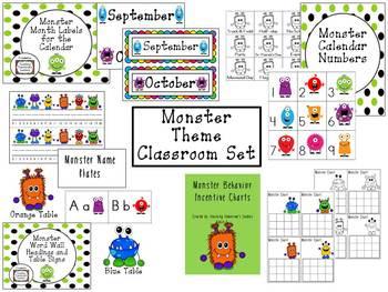 Monster Themed Classroom Set