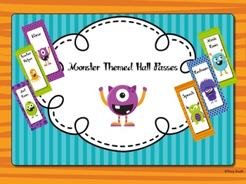 Monster Themed Hall Passes