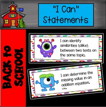 """Monster """"I Can"""" statements"""