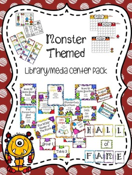Monster Themed Library/Media Center Pack {with EDITABLE pa