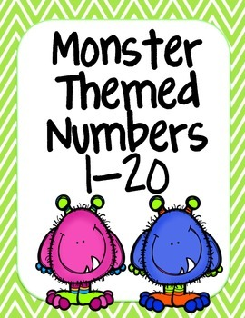 Monster Themed Number Posters 1-20