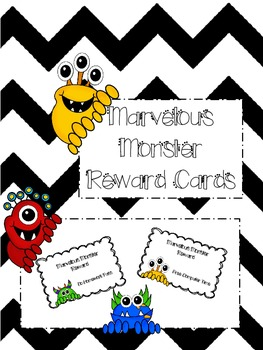 Monster Themed Reward Cards