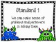 Monster Themed Standards For Mathematical Practices Poster