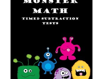 Monster Themed Subtraction Fact Tests