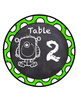 Monster Themed Table Numbers