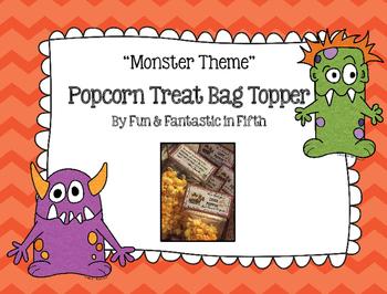 Monster Themed Treat Bag Topper