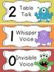 Monster Themed Voice Level Chart