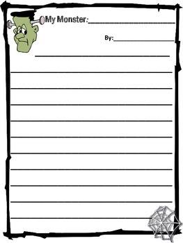 Monster Themed Writing Paper
