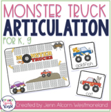 Monster Truck /k, g/ Game for Speech Therapy
