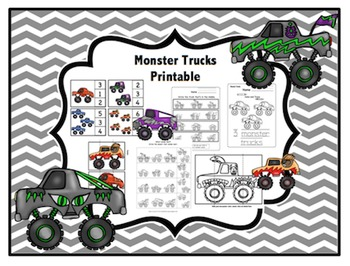 Monster Trucks Printable