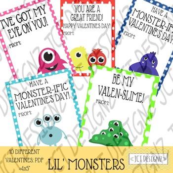 Monster Valentines, Valentines Day, Cute Monster Valentine