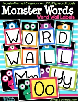 Monster Words {Word Wall Labels}
