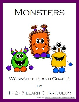 Monster Worksheets and Crafts