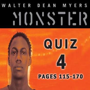 Monster by Walter Dean Myers Quiz 4 (pages 115-170)