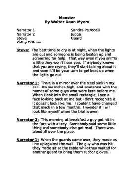Monster by Walter Dean Myers Reader's Theater