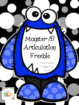 Monster /f/ Articulation Freebie