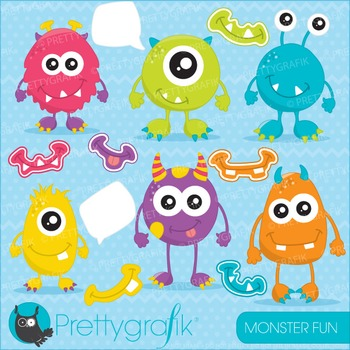 Monster fun clipart commercial use, vector graphics, digit