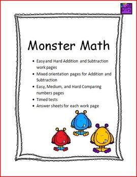 Monster math packet