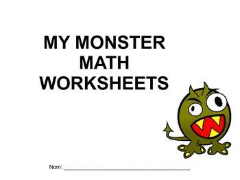 Monster math worksheets