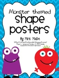 Monster-themed Shape Posters