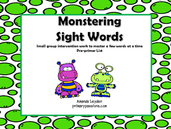 Monstering Sight Words