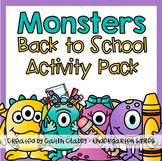 Back to School Activity Pack (with Monsters)