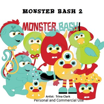 Monsters Bash 2 Clip Art  Color  personal & commercial use