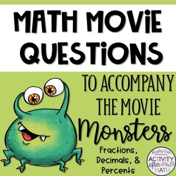 Math Movie Questions to accompany the movie Monsters, Inc.!
