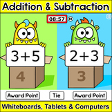 Monsters Math Head-to-Head Team Challenge – Addition & Sub