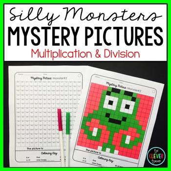 Mystery Pictures Multiplication and Division (Monsters)