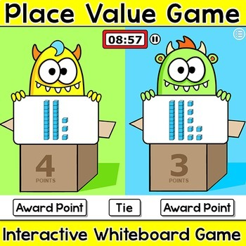 Place Value Smartboard Game - Halloween Activities