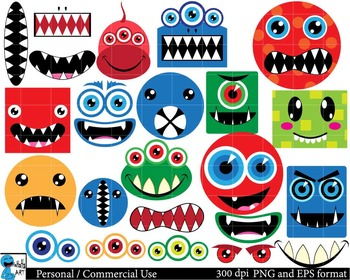 Monsters Set Clipart Digital Clip Art Graphics 113 images cod48