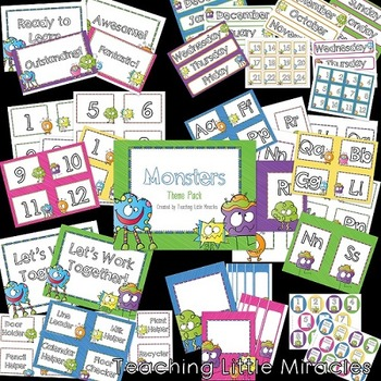 Monsters Theme Classroom Decor Pack