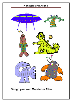 Monsters and Aliens Story and colouring