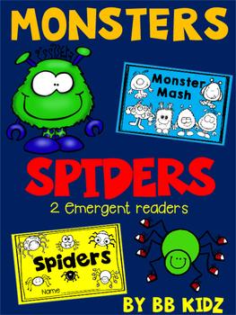 Monsters and Spiders {2 Emergent Readers for Kindergarten}