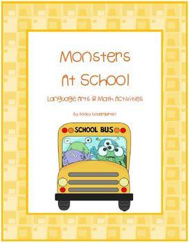 Monsters at School    Language Arts & Math Activities/ Sch