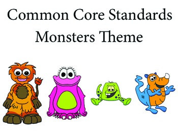 Monstersmonster 3rd grade English Common core standards posters