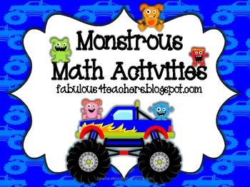Monstrous Math Activities