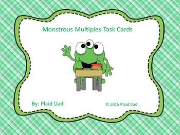 Monstrous Multiples Task Cards