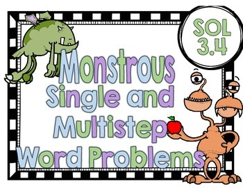 Monstrous Single and Multistep Word Problems