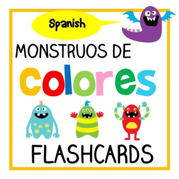 Monstruos de Colores - Spanish Color/ Colour Flashcards (Español)