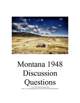 Montana 1948 Novel Discussion Questions