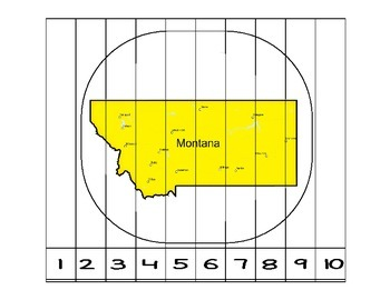 Montana Counting to 10 Puzzle