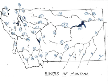 Montana Rivers Numbered for Test