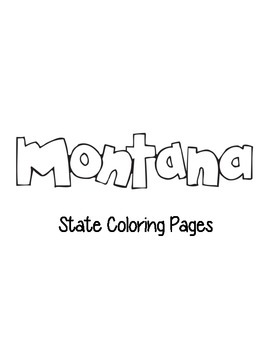 Montana State Coloring Pages