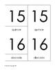 Montessori 3-part cards  numbers 11-20 Spanish